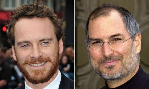 Michael Fassbender and Steve Jobs